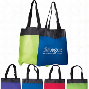 "Custom Polyester Budget Tote 13.5"" X 15"