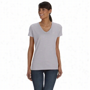Fruit of the Loom 5 oz 100% Heavy Cotton HD V-Neck T-Shirt
