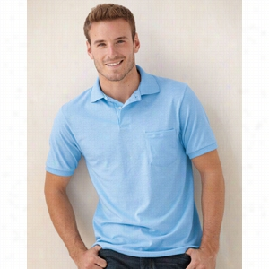 Hanes Stedman Blended Jersey Sport Shirt with a Pocket