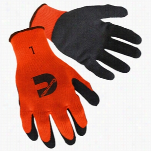 Hi-Viz Orange Textured Latex Palm Coated Gloves