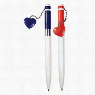 Magnetic Heart Pen - Red or Blue