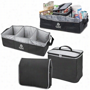 "Polyester 2-In-2 Trunk Organizer Cooler 12"" X 10"