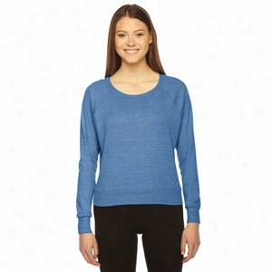American Apparel Ladies' Triblend Lightweight Raglan Pullover