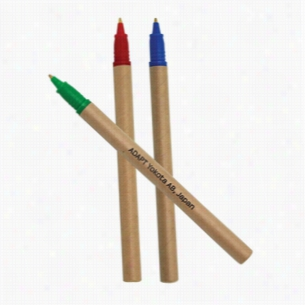 BioDegradable Cardboard Pens: Red, Blue & Green