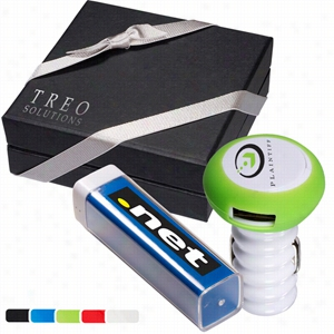Econo Emergency Battery & Lil' Sparky USB Car Charger Set