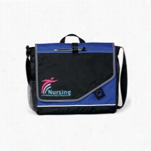 "Polyester Attune Velcro Closure Messenger Bag 13.5"" X 11.5"