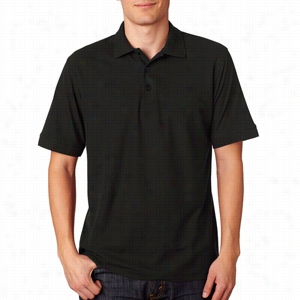 UltraClub Men's Basic Blended Pique Polo