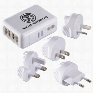 World Traveler - 4 USB Port Universal Travel Adapter