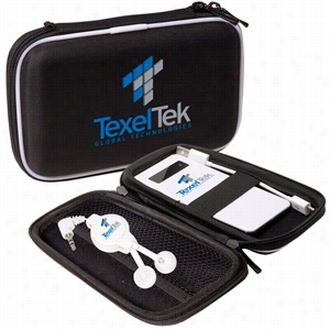 Emergency Battery & Retractable Earbuds Set
