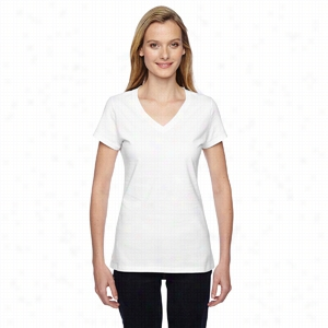 Fruit of the Loom Ladies' 4.7 oz. 100% Sofspun Cotton Jersey Junior V-Neck T-Shirt