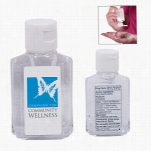 Gel Hand Sanitizer in Square Bottle - 2 oz