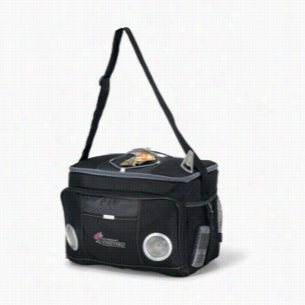 Polyester Honeycomb Accent 24-Can Encore Music Cooler Bag Black