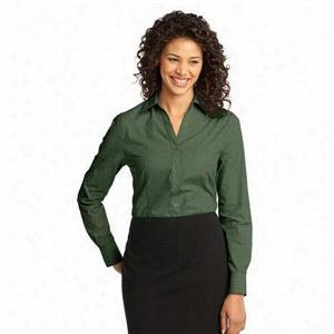 Port Authority Ladies Crosshatch Easy Care Shirt