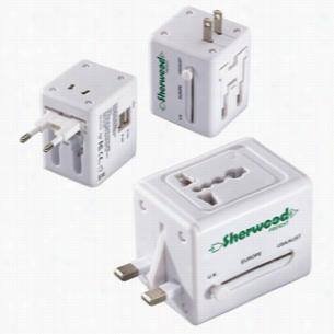 Quick Traveler - 2 USB Port Universal Travel Adapter