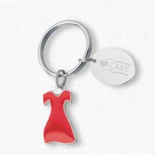 Red Dress Keychain