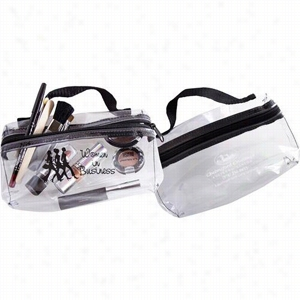Handle With Clear Cosmetic Bag