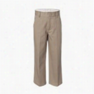French Toast Boy's Flat Front Double Knee Twill Pant