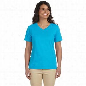 LA T Sportswear Combed Ringspun Jersey V-Neck T-Shirt