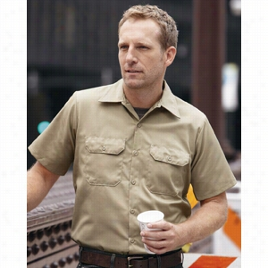 Red Kap Utility Short Sleeve Work Shirt