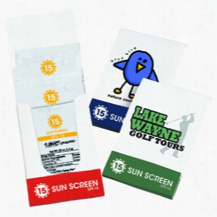 3 Single-Use Spf-15 Sunscreen Lotion White Pocket Pack
