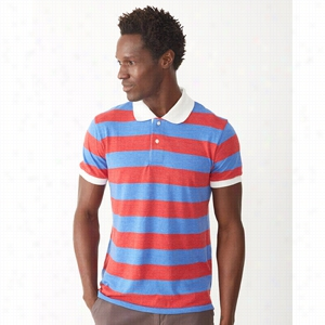 Alternative Eco Jersey Ugly Stripe Short Sleeve Polo