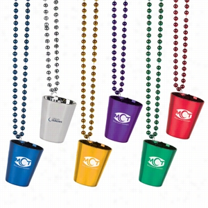 Assorted Shot Glass Beads Necklace