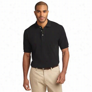 Custom Port Authority Pique Knit Polo Shirt