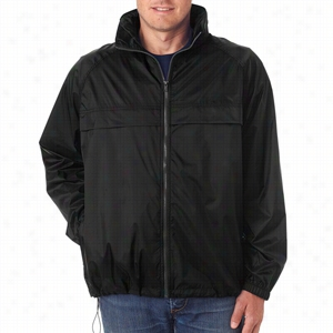 UltraClub Adult Full-Zip Hooded Pack-Away Jacket