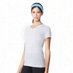 alo Ladies' Triblend Short Sleeve V-neck T-Shirt