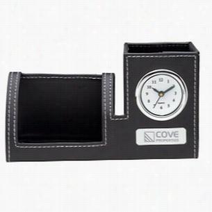 Clock, Phone Holder & Pen Cup