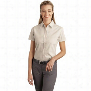 Port Authority Ladies Short Sleeve Easy Care, Soil Resistant Shirt