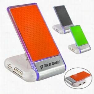 Silicone Foldable USB Hub Card Reader