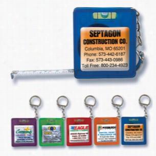 5' Tape Measure Level Keychain