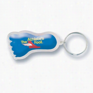 Epoxy Dome Foot Key Chain