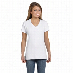 Hanes 4.5 oz 100% Ringspun Cotton nano-T V-Neck T-Shirt