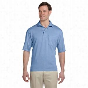 Jerzees 5.6 oz 50/50 Jersey Pocket Polo with SpotShield