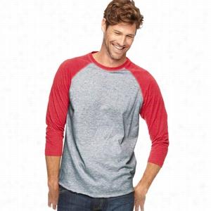 LAT Fine Jersey 3/4 Sleeve Baseball T-Shirt