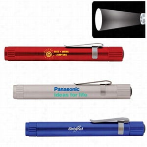 Pen Size Focus Lens LED Flashlight with Clip
