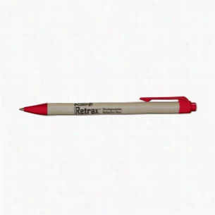 Retrax e-color-gy Biodegradable Eco-Friendly Retractable Ballpoint Pens With Recycled Paper Barrel