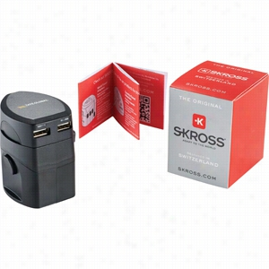 Skross EVO Plus USB World Travel Adapter