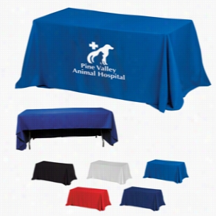 3-Sided Economy 6 ft Table Covers (Spot Color Print)