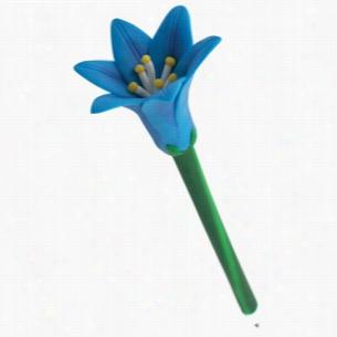 Blue Lily Flower Pen