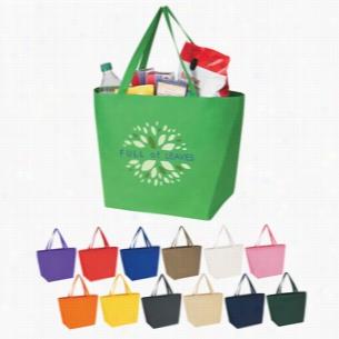 "Custom Non Woven Budget Shopper Tote Bag - 20"" X 13"