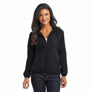 Port Authority Ladies Hooded Essential Jacket