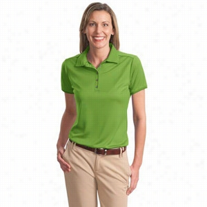 Port Authority Ladies Poly-Bamboo Charcoal Birdseye Jacquard Polo