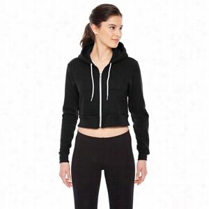 American Apparel Ladies' Cropped Flex Fleece Zip Hoodie
