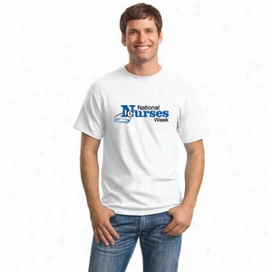 Custom Hanes Comfort Soft Cotton White T Shirt 5280