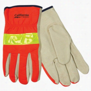 Hi-Viz Leather Driver's Glove