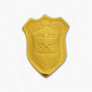 Pencil Top Stock Eraser- Police Badge
