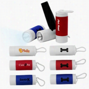 Woofy's Poopy Bag Dispenser with LED light